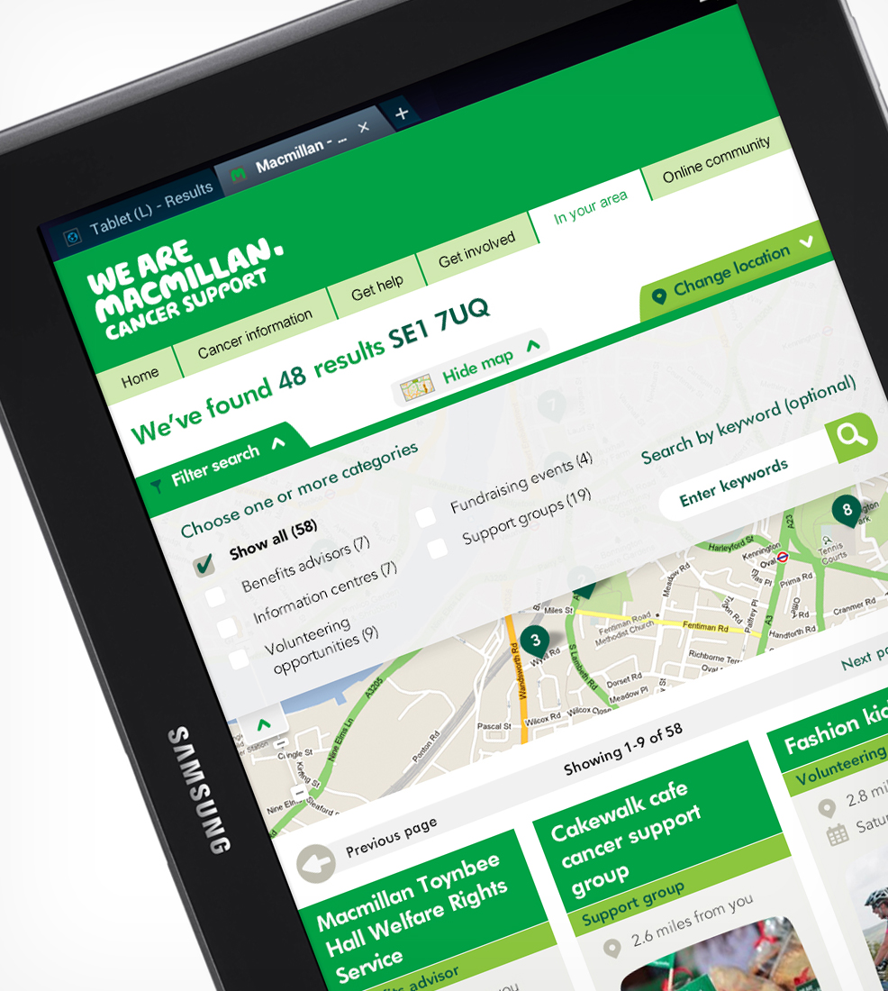 Macmillan Cancer Support: In Your Area