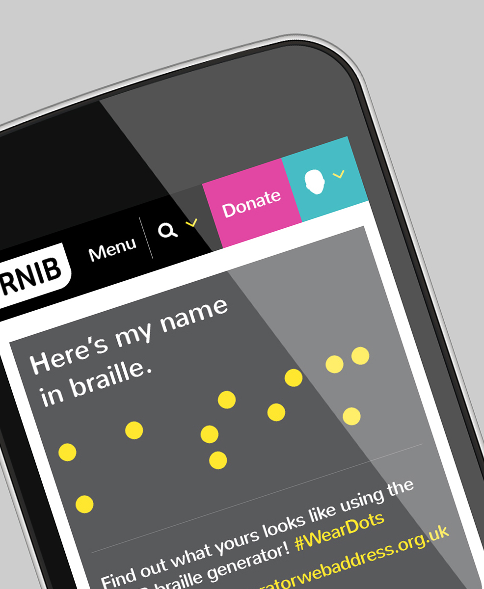 RNIB: Write your name in Braille