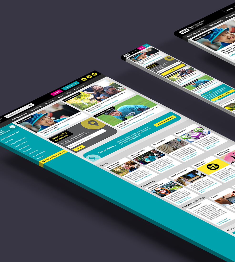 RNIB: Website Redesign